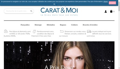 Site internet de Carat & Moi