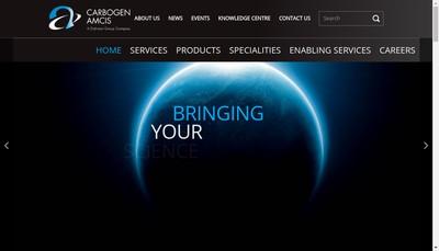 Site internet de Carbogen Amcis SAS