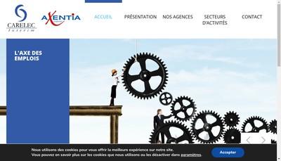 Site internet de Carelec Interim