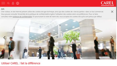 Site internet de Carel France