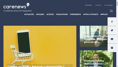 Site internet de Carenews