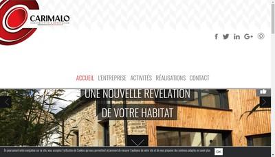Site internet de Carimalo Constructions