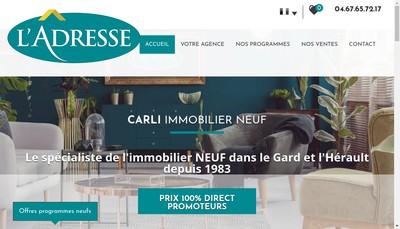 Site internet de Carli Immobilier