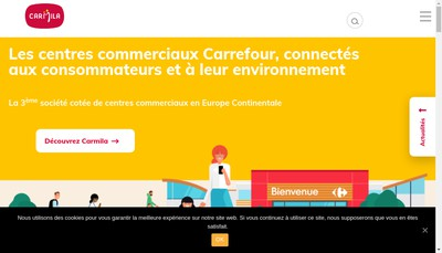 Site internet de Carmila France