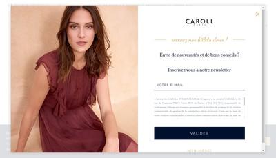 Site internet de Boutique Caroll