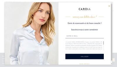 Site internet de Caroll