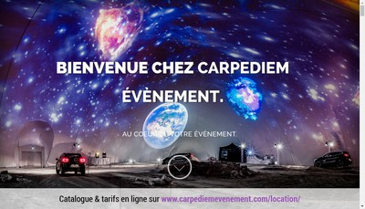Site internet de Carpediem Evenement