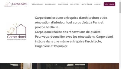 Site internet de Carpe Domi