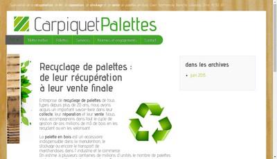 Site internet de Carpiquet Palettes