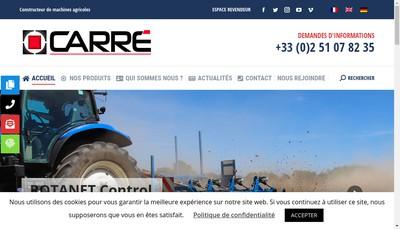 Site internet de Holding Sbm Carre