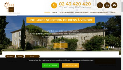Site internet de Carre Mans
