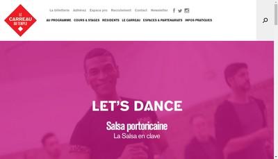 Site internet de Societe Publique Locale du Carreau du Temple