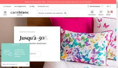 Site internet de Carre Blanc