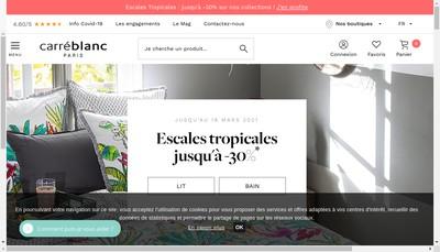 Site internet de Carre Blanc Boutiques