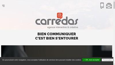 Site internet de Carredas Communication