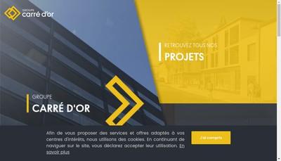 Site internet de Carre d'Or Immobilier