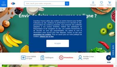 Site internet de Carrefour Market