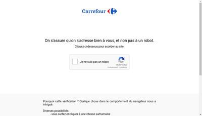 Site internet de Carrefour Drive
