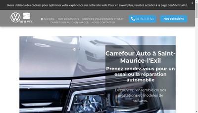 Site internet de SARL Carrefour Auto