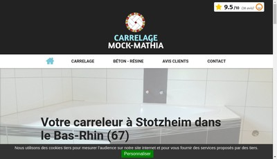 Site internet de Carrelage Mock