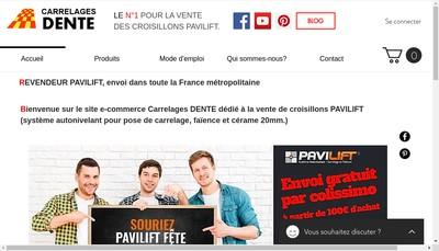 Site internet de Carrelages Dente