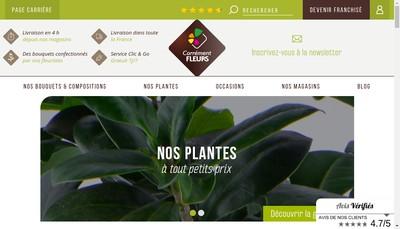 Site internet de Carrement Fleurs