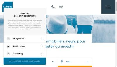 Site internet de Holding Carrere
