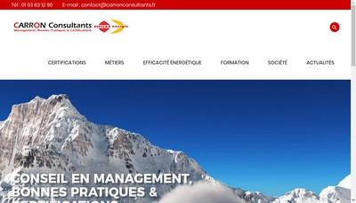 Site internet de Carron Consultants
