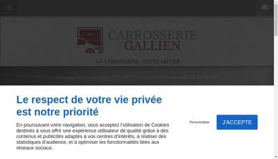 Site internet de Carrosserie Gallien