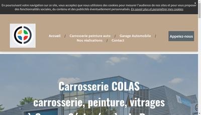 Site internet de Carrosserie Colas