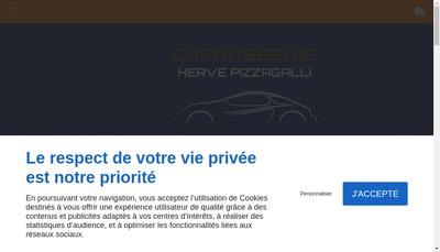 Site internet de Carrosserie Pizzagalli