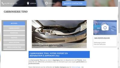 Site internet de Carrosserie Tino
