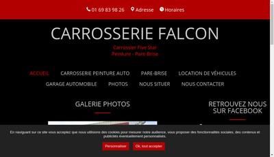 Site internet de Carrosserie Falcon