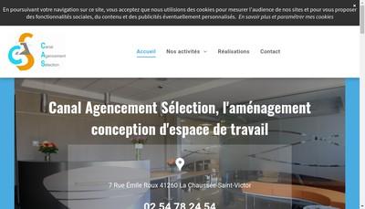 Site internet de Canal Agencement Selection SA