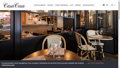 Site internet de Casa Cosa