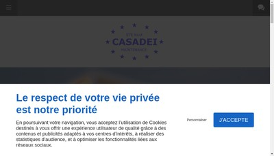 Site internet de Societe Nouvelle Casadei Maintenance