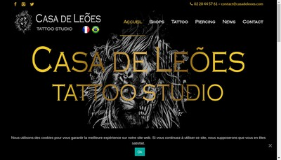 Site internet de Casa de Leoes-Tatoo Studio