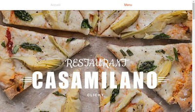 Site internet de Casa Milano