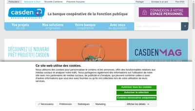 Site internet de Casden Banque Populaire