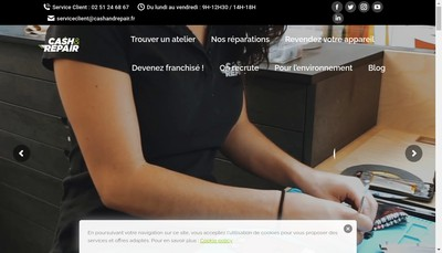 Site internet de Cash And Repair