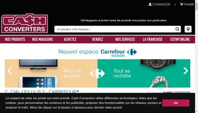 Site internet de Cash Converters