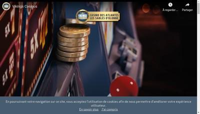 Site internet de Casino des Atlantes