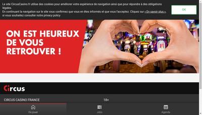 Site internet de Societe du Casino de Briancon