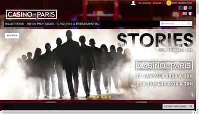 Site internet de Casino de Paris