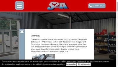 Site internet de S2A