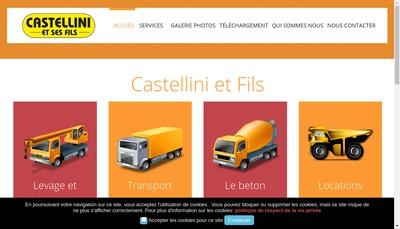 Site internet de Entreprises Castellini et Fils