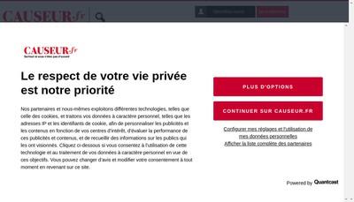 Site internet de Causeur Fr