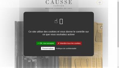 Site internet de Gant Causse