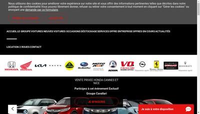 Site internet de Groupe Cavallari