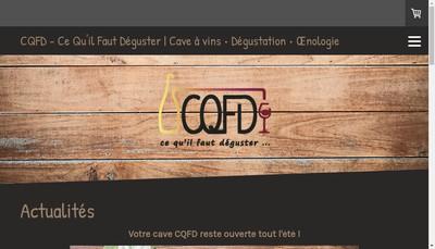 Site internet de Cqfd - Ce Qu'Il Faut Deguster